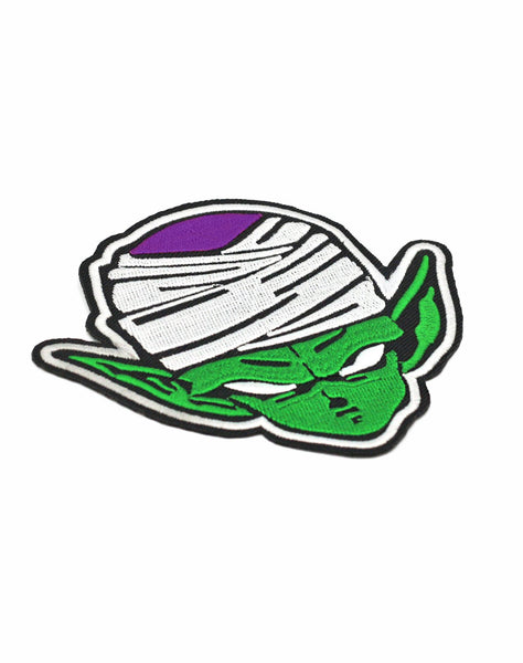 Super Namekian Piccolo Iron-on patch close up | 90s cartoon aesthetic dragonball z