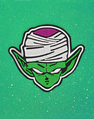 Super Namekian Piccolo Iron-on patch on green | Dragonball z 90s cartoon nostalgic patches
