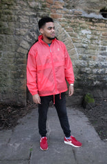 Full zip mens coral rainproof platypus parka jacket