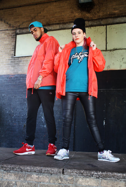unisex coral rainproof platypus parka jacket mens and womens streetwear