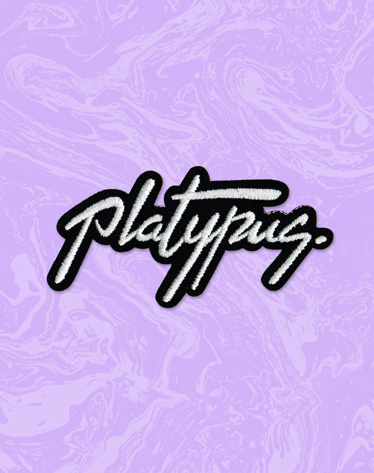 The Classic Platypus Signiture Design DIY Iron-on Patch by Platypus UK Streetwear