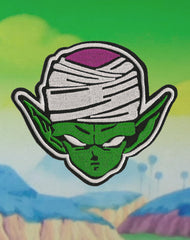 Super Namekian Piccolo Iron-on patch on planet namek from dragonball z