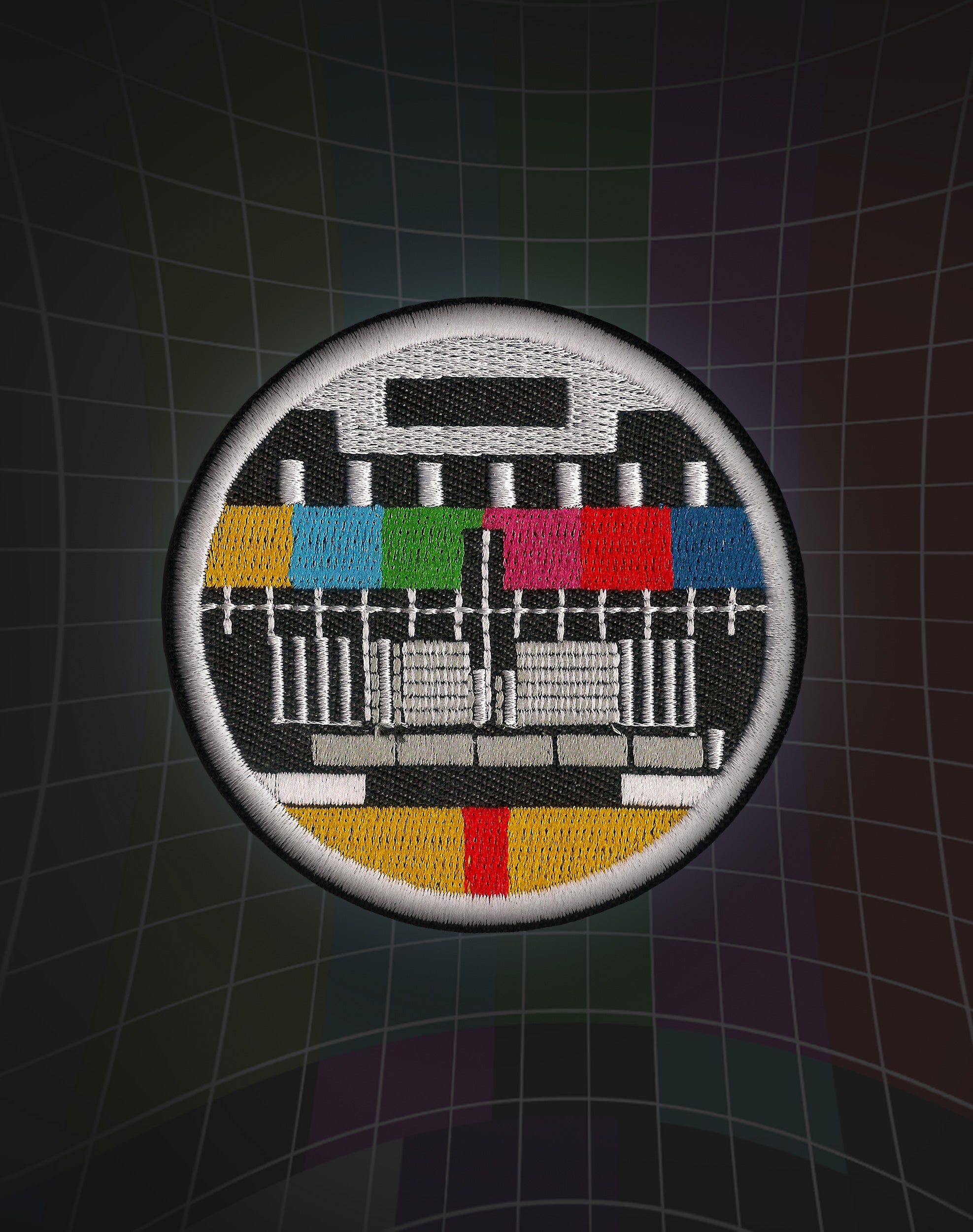 No Signal TV Test Card Iron-on Patch