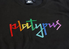 Platypus Rainbow Signature Black Sweatshirt