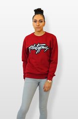 Platypus logo red crew neck sweatshirt