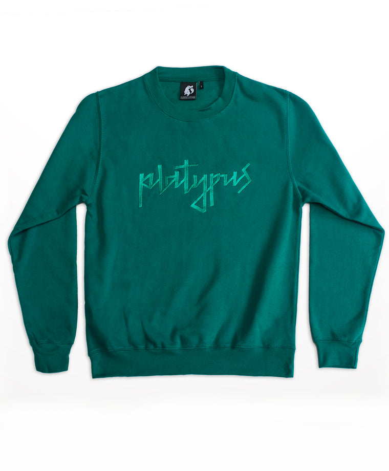 Platypus Embroidered Signature Teal Sweatshirt