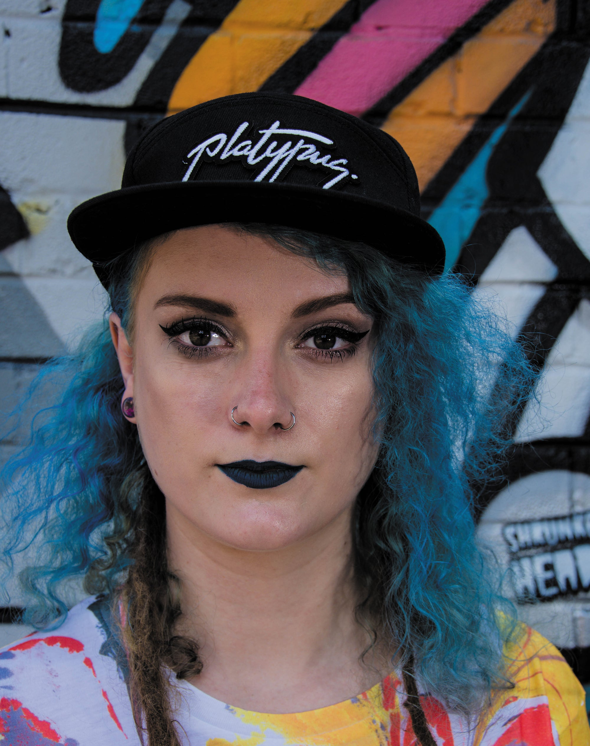 Platypus UK Streetwear 5-Panel Black Signature Snapback hat