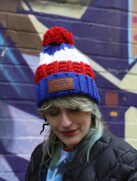 Female in Union beanie hat (with bobble)