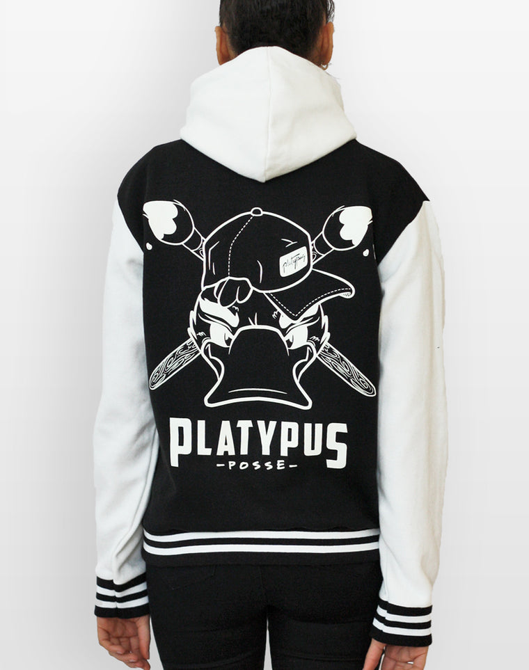 Platypus Posse Varsity Jacket with Hood