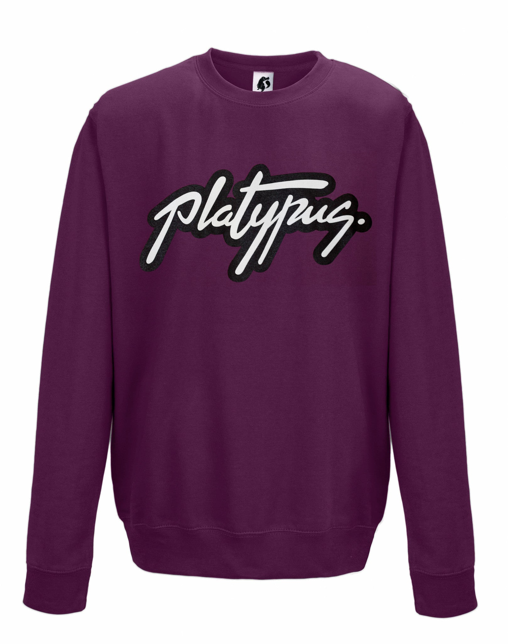 Platypus Logo Urban Sweatshirt jumper in Plum