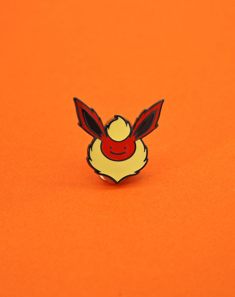 pokemon flareon ditto face enamel pin badge artist pokemon pins