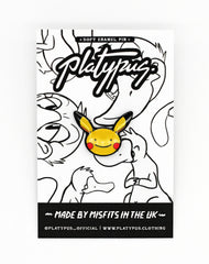 Pokemon Gloss Soft Enamel Ditto Face Pin Badge in packaging | Platypus UK Streetwear