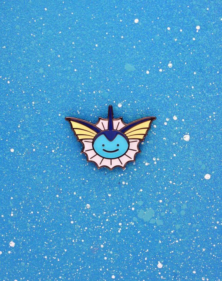 Ditto Face Vaporeon Enamel Pin