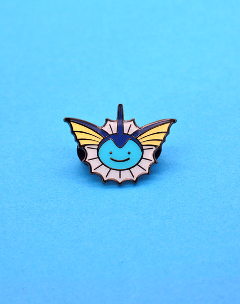 pokemon vaporeon face ditto enamel pin badge | Best pokemon pins uk