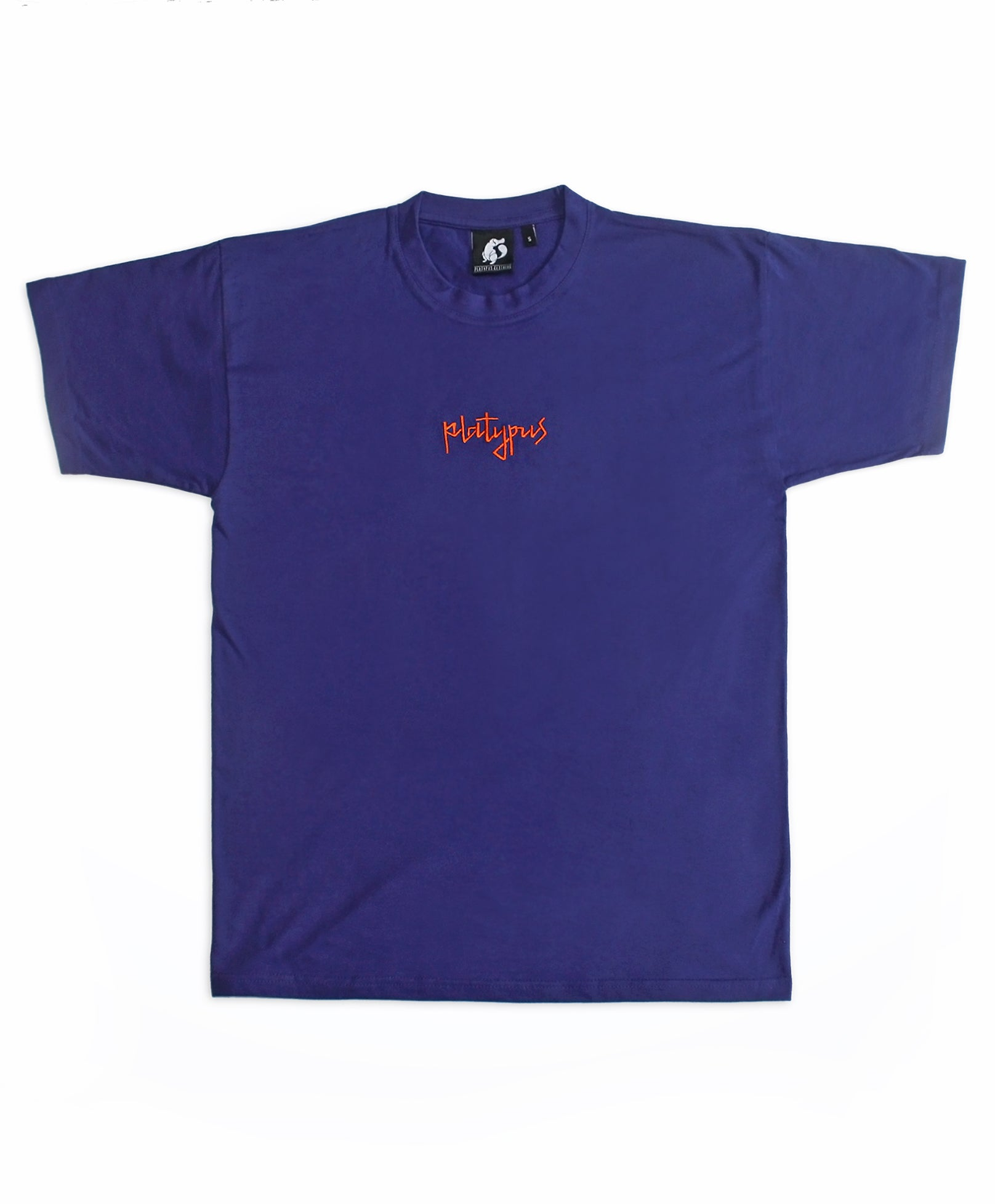 Platypus Mini Signature Purple and Orange Embroidered T-Shirt