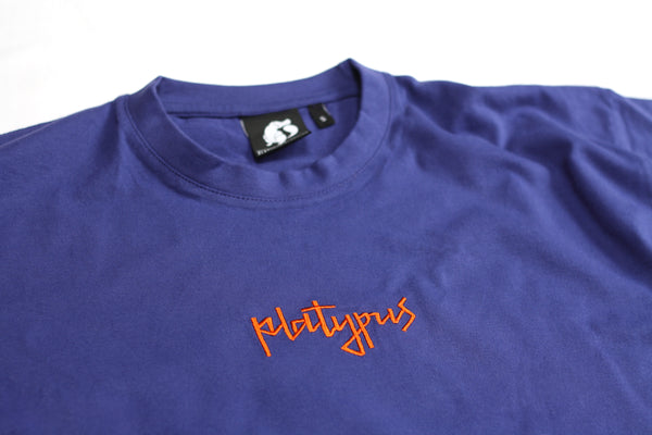 Platypus Mini Signature - Purple & Orange Embroidered T-Shirt