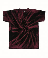 Spiral Acid Wash T-Shirt - Purple