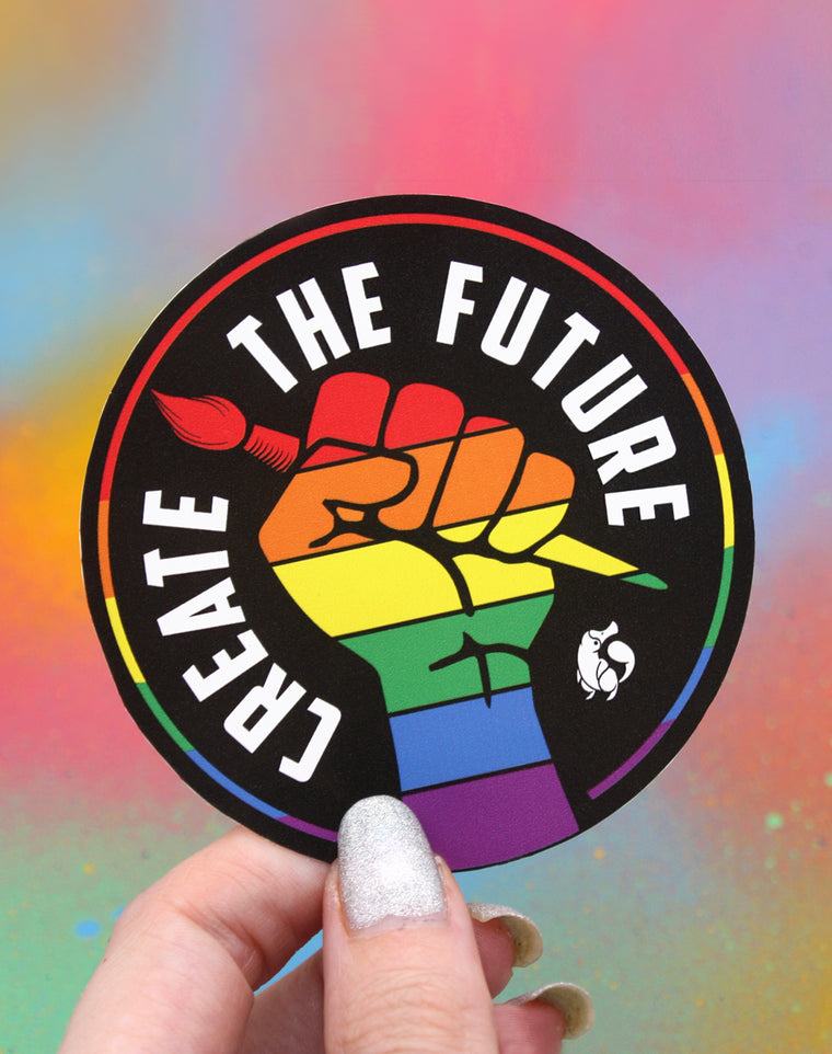 Create the Future Protest Vinyl Sticker