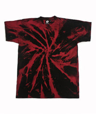 Spiral Acid Wash T-Shirt - Red