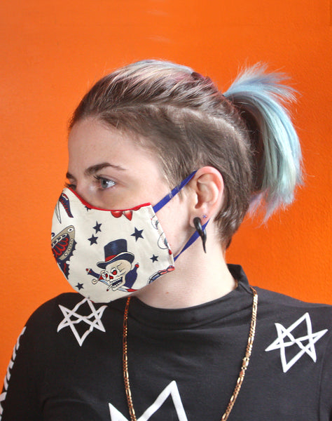 tattoo style street fashion unisex cotton face covering