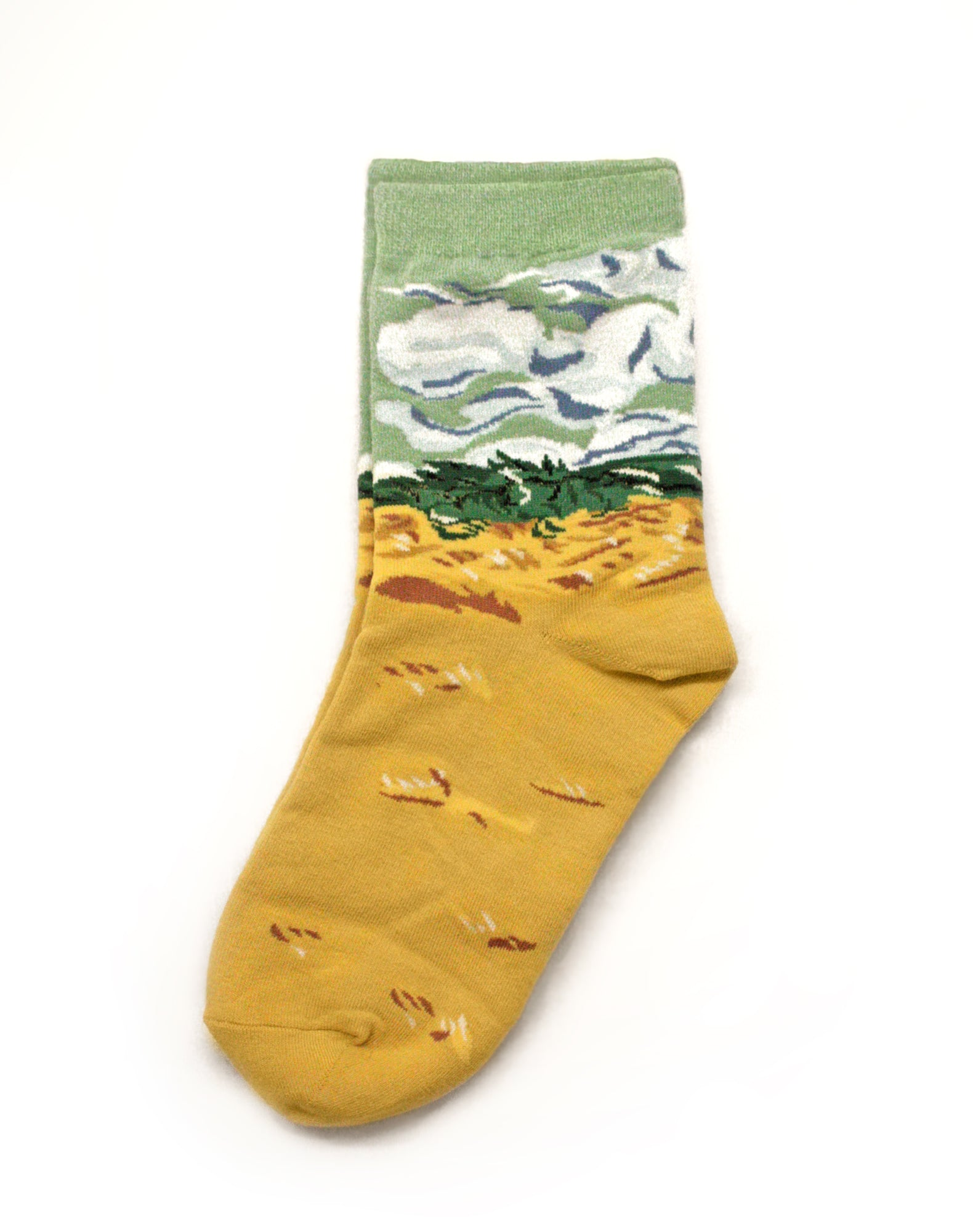 van-gogh wheatfields with Cypresses Socks Famous painting Streetwear accessories