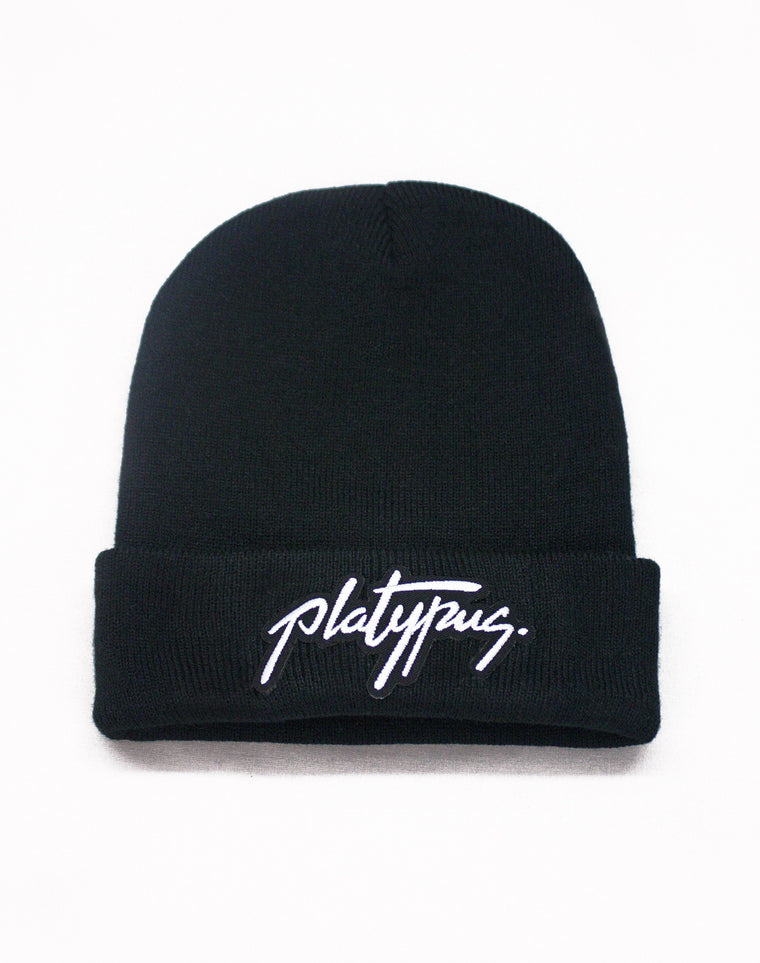 Black Platypus Patch Beanie