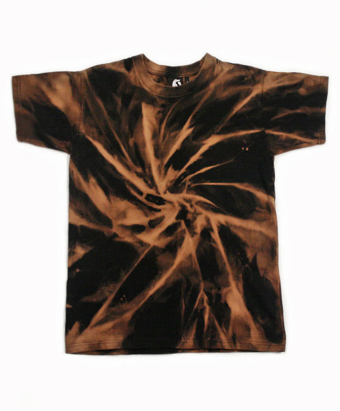 Spiral Acid Wash T-Shirt - Natural