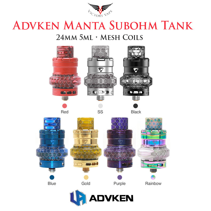 Advken MANTA Mesh Subohm Tank • 24mm 5ml