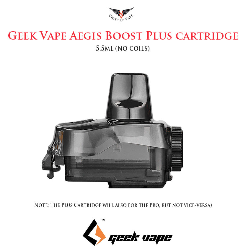 Geek Vape Aegis Boost Plus Pod Cartridge • 2 pack (no coil)