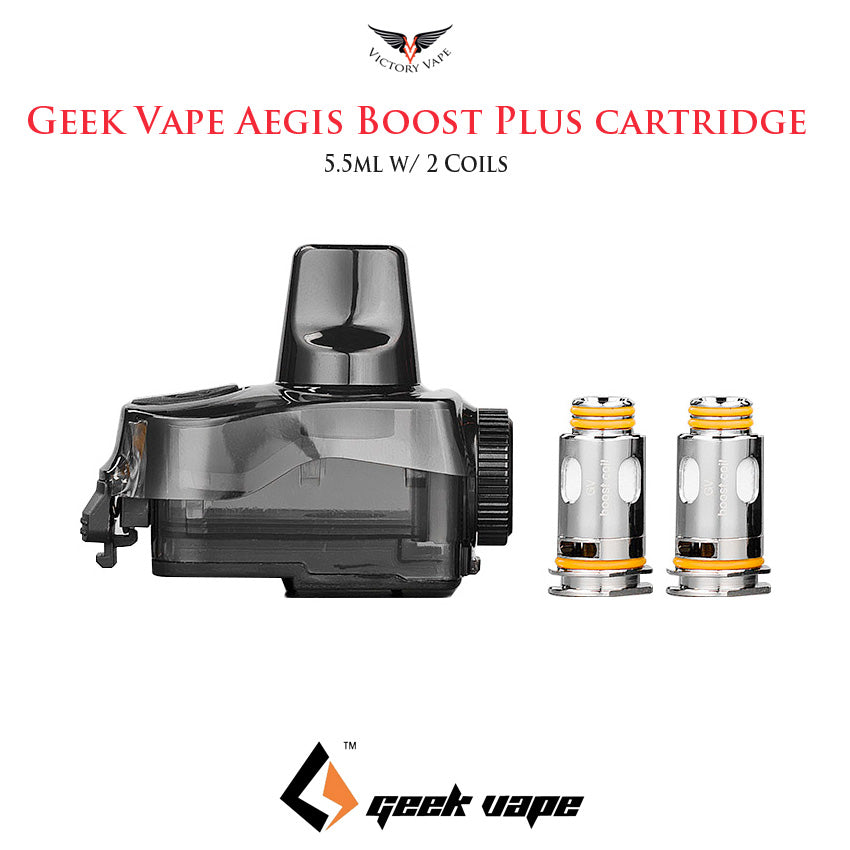 Geek Vape Aegis Boost Plus Pod cartridge • 5.5ml w/ 2 Coils