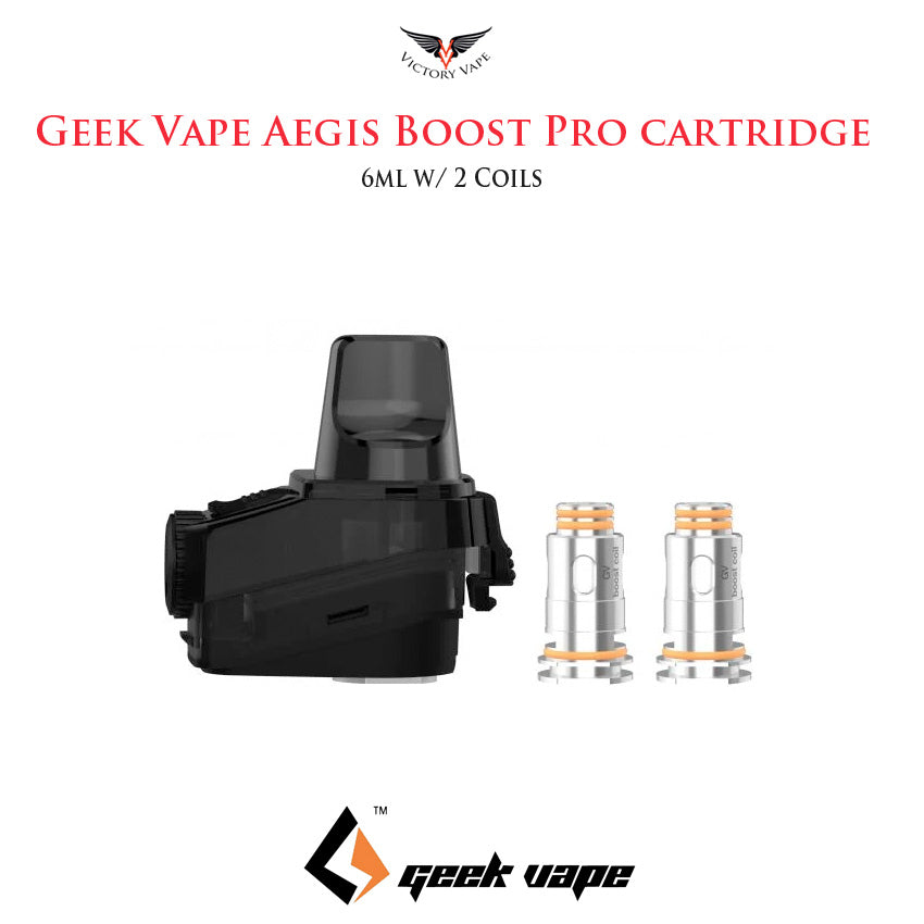 Geek Vape Aegis Boost Pro Pod Cartridge • 6ml w/ coils
