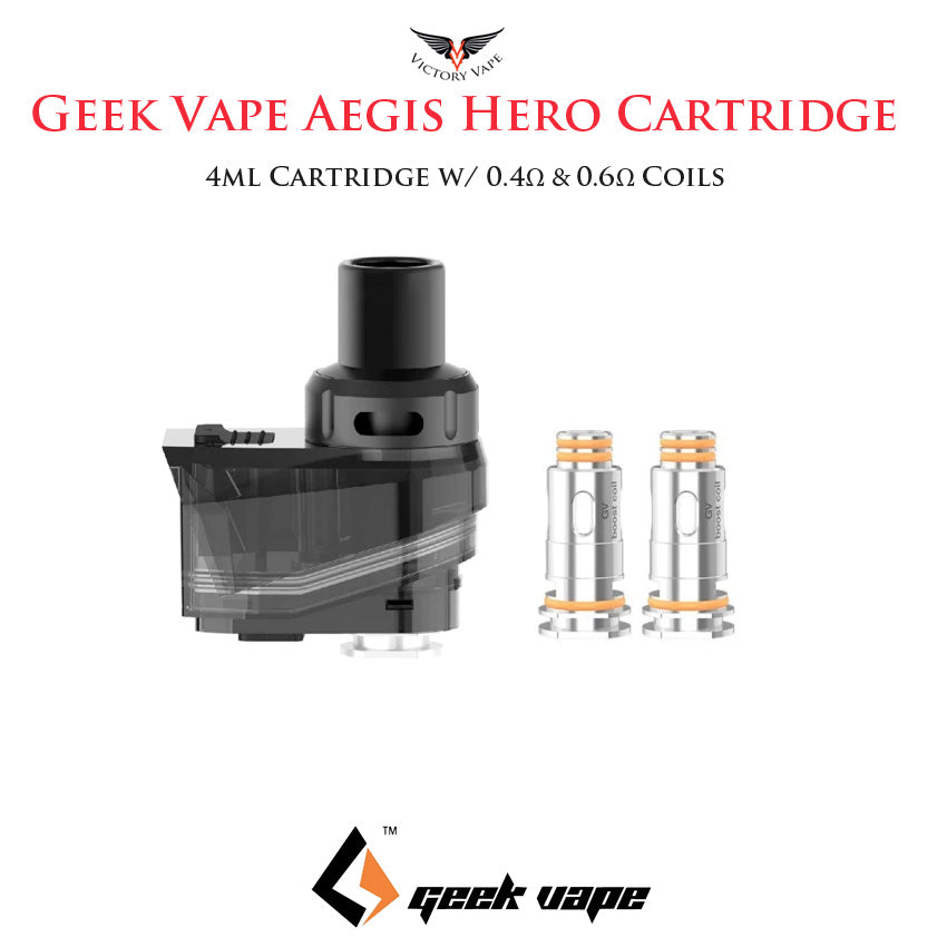 Geekvape Aegis Hero Pod cartridge • 4ml (with 2 coils)