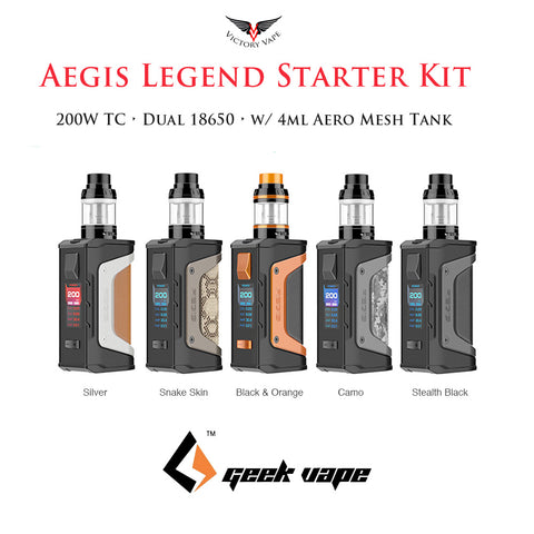 GeekVape Aegis Legend 200W TC Kit • w/ 4ml Aero Mesh tank