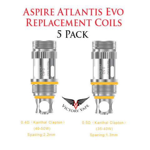Aspire Atlantis EVO Coils • 5 pack