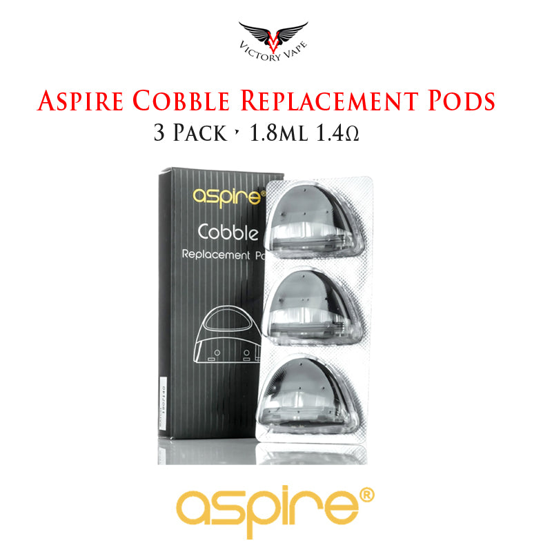Aspire Cobble Replacement Pods • 3 Pack • 1.8ml 1.4Ω