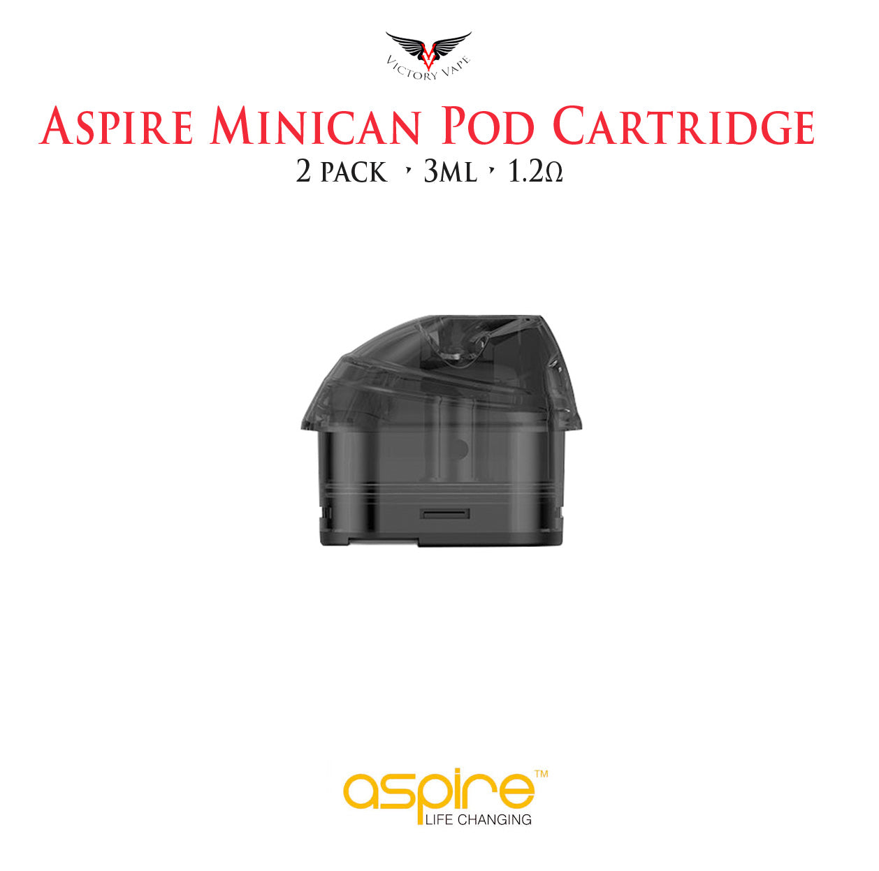 Aspire Minican Replacement Pod • 2 Pack 3ml