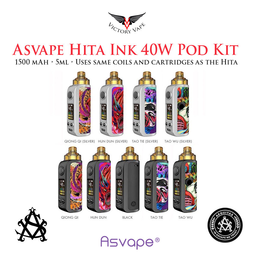 Asvape HITA INK 40W Pod Starter Kit • 1500 mAh 5ml