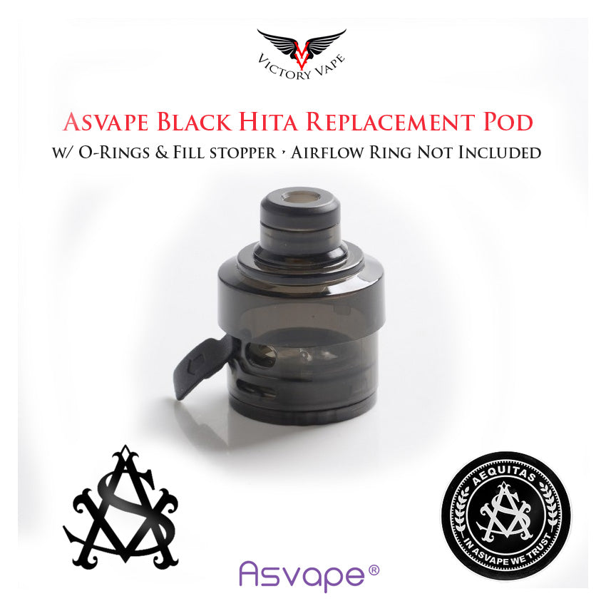 Asvape BLACK HITA Replacement Pod • (no Airflow Ring)