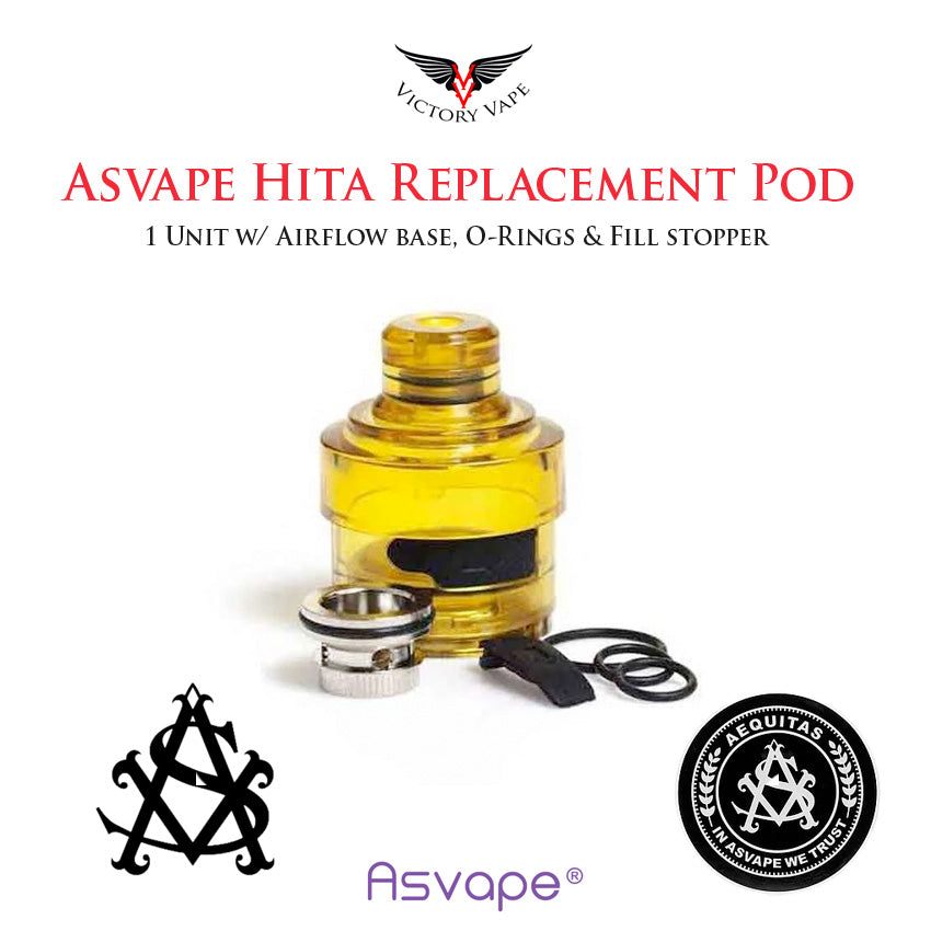 Asvape ULTEM HITA Replacement Pod • 1 piece 3ml w/ Airflow Ring