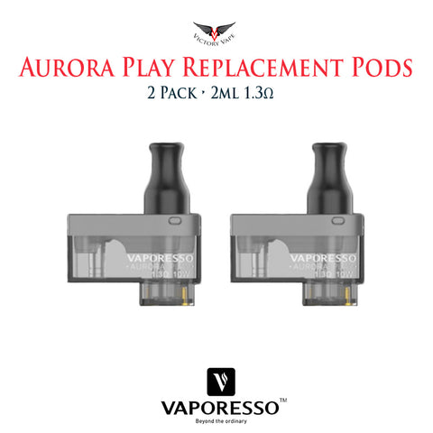 Vaporesso Aurora Play Replacement Pod Cartridges • 2 Pack 2ml 1.3Ω