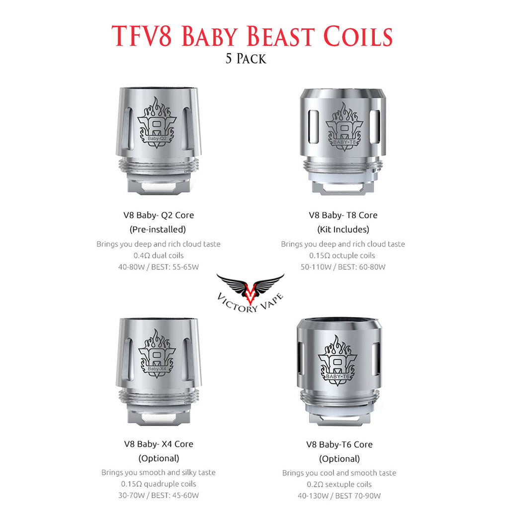 TFV8 Baby Beast Replacement Coils