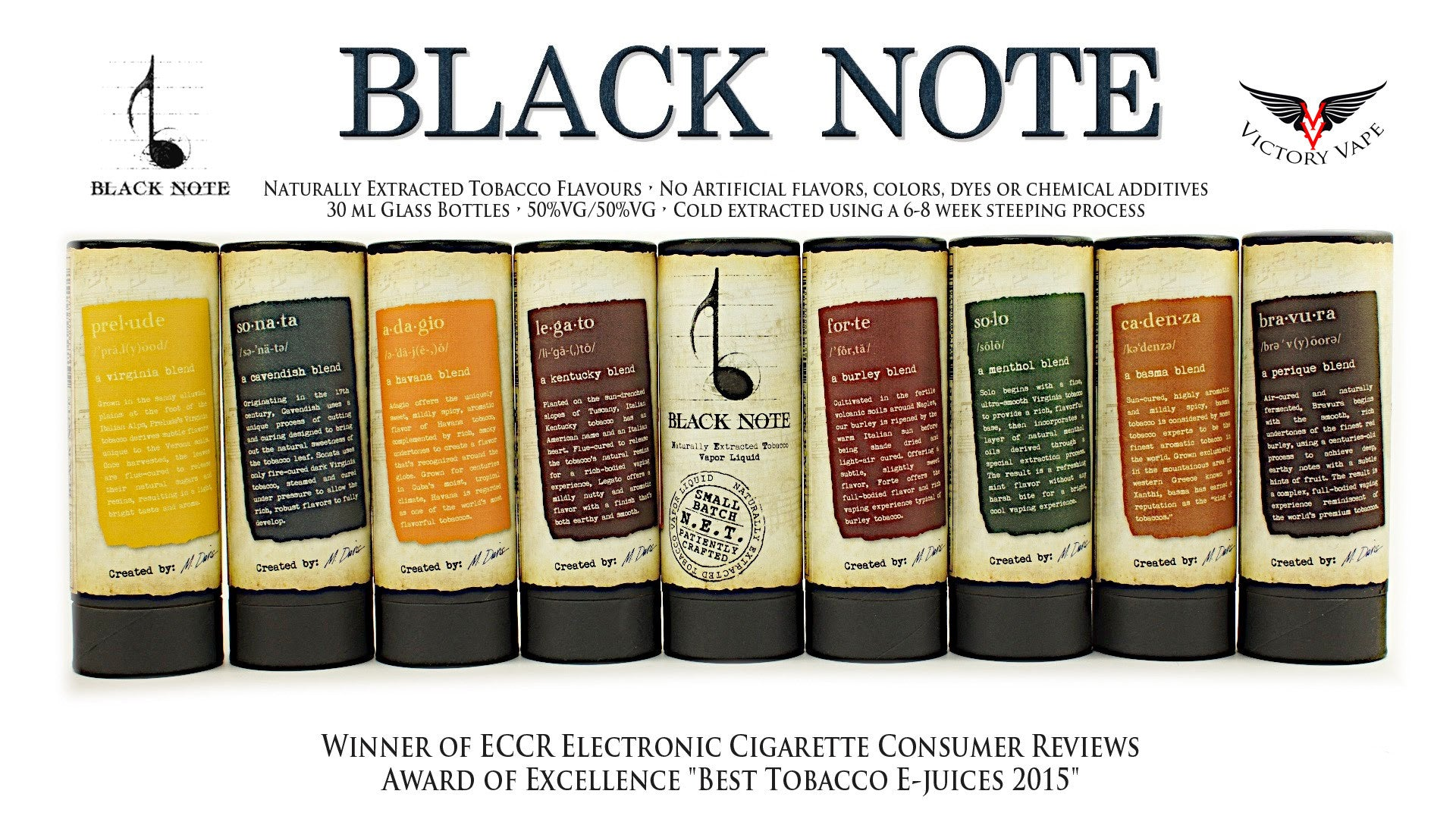 Black Note Eliquids • Naturally Extracted Tobacco Flavours