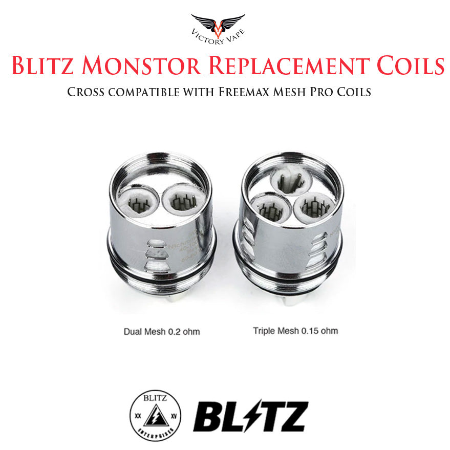 Blitz Monstor Replacement Mesh Coils • 3 Pack