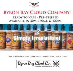 premium ejuice vape ejuice australia ejuice vape neapolitan oj smooth chocolate milk peaches an pineapples milk n cereal blue raspberry blueberry custard pie strawberry yogurt melon madness Byron Bay Cloud Company