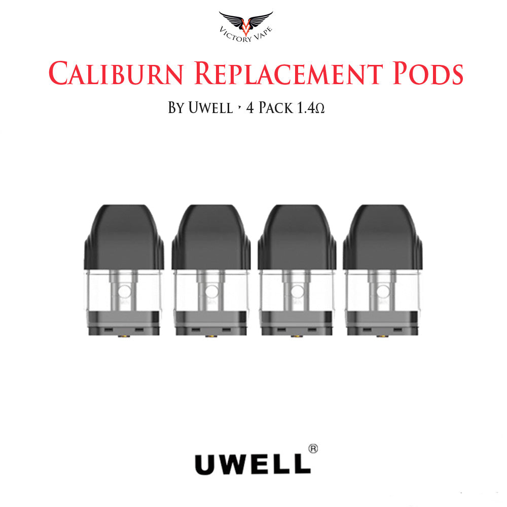 Uwell Caliburn Replacement Pod Cartridges • 4 Pack 1.4Ω 2ml