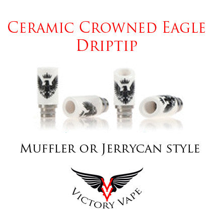 Ceramic Eagle Driptip - Jerrycan or Muffler style
