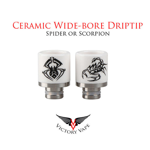 Ceramic Wide-bore Driptip