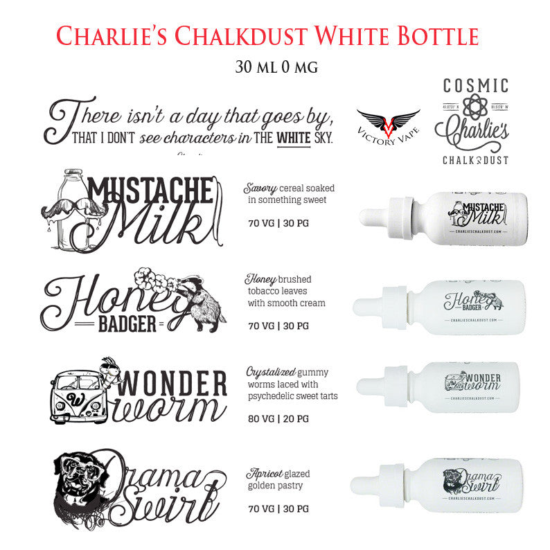 Charlie's Chalkdust • White Bottle Line • 30 ml 0 mg