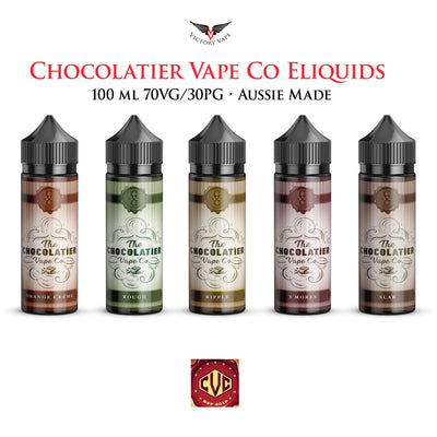 Chocolatier Vape Co Eliquid • 100ml Australian 70VG/30PG