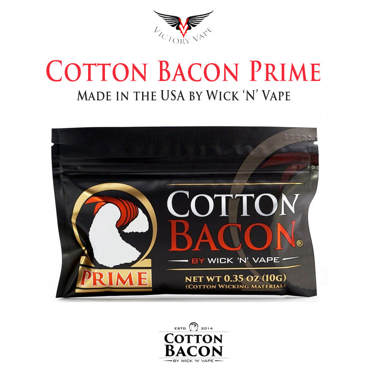 cotton bacon cotton wicking material cotton U.S. grown cotton fiber Cotton Bacon Prime by Wick 'N' Vape Cotton Bacon Prime